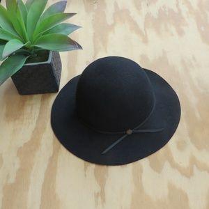 Goorin Bros M Black Wool Floppy Hat